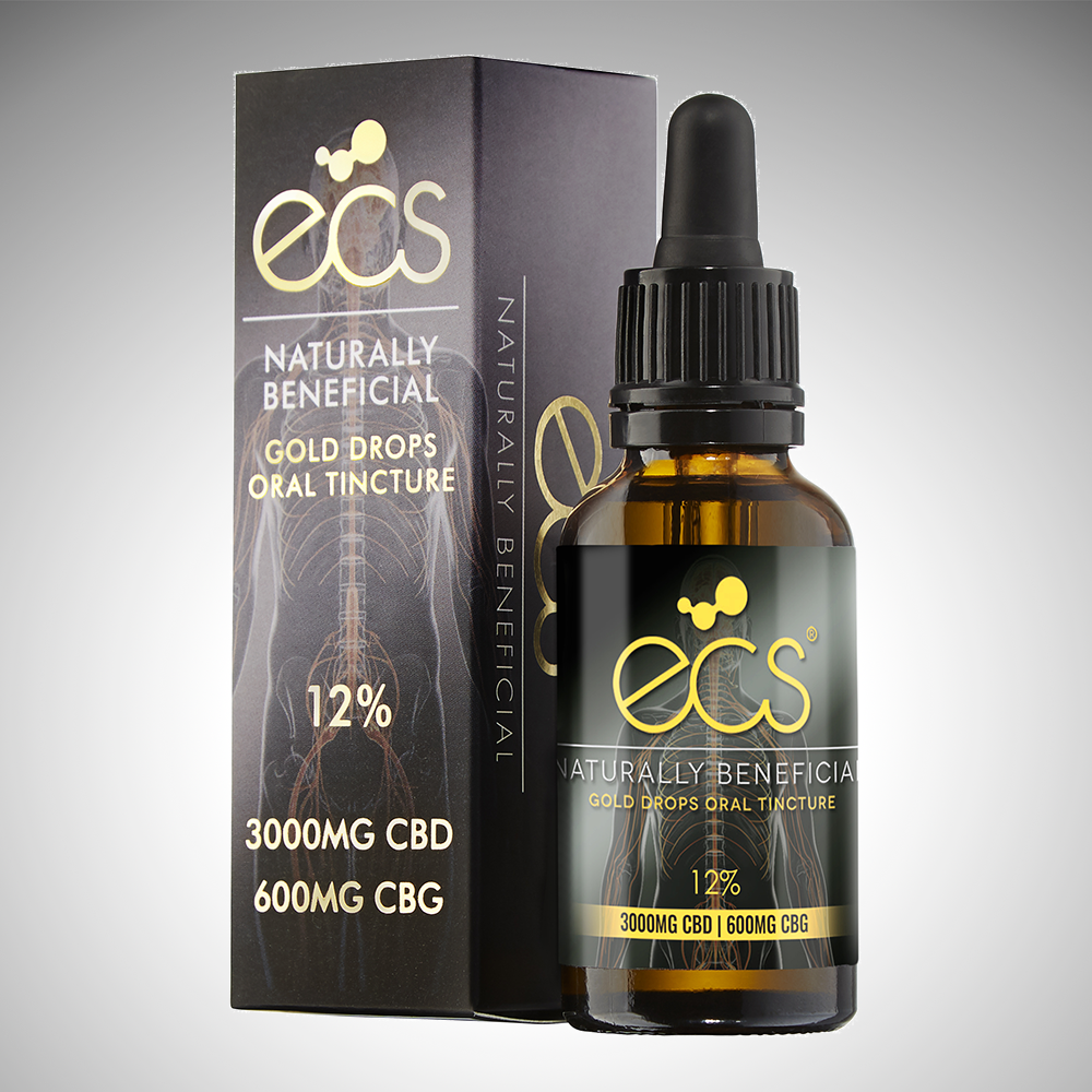 ECS® Gold Drops - Oral cannabinoid tincture 3000MG CBD 600MG CBG