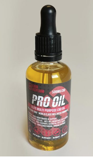CBD Asylum Pro Oil 500mg 50ml bottle